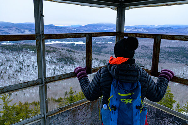 Snowshoe to Hamco Fire tower