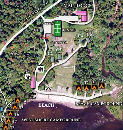 Property Map of Irondequoit Inn, Campsites and Cabins