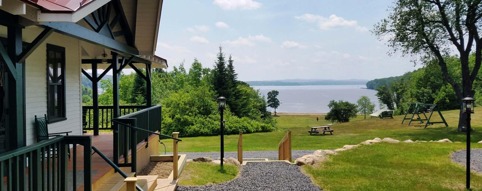 View from new porch