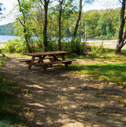Campsites with lake views