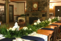 Table settings for a wedding at the Irondequoit Inn